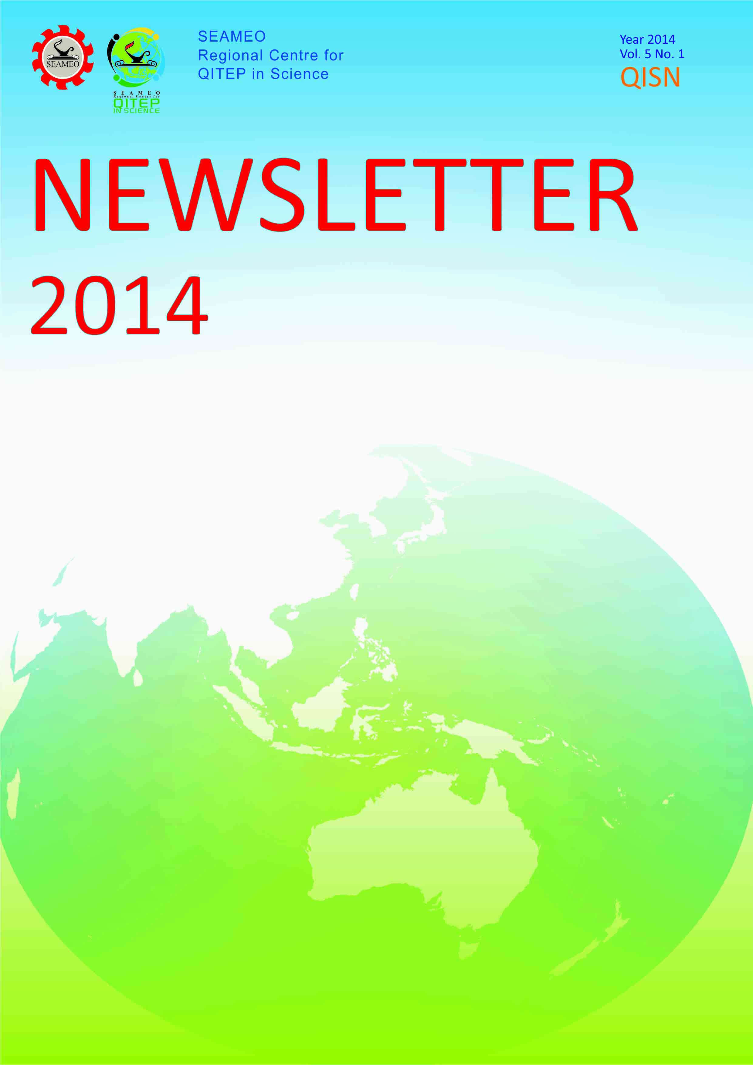 SEAQIS Newsletter Vol 5 No 1 2014
