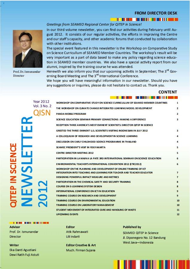 SEAQIS Newsletter Vol 3 No 2 2012