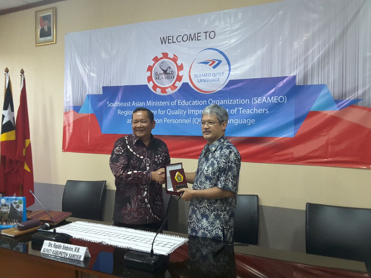 Collaboration Agreement between SEAMEO QITEP in Science and the Samosir Regency Government Office to Improve Competencies of Teachers and Education Personnel