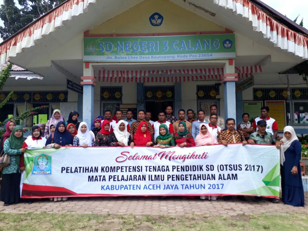 SEAQIS In-Country Training : Elementary School Science Teacher and Supervisor Competence Enhancement in Aceh Jaya Regency