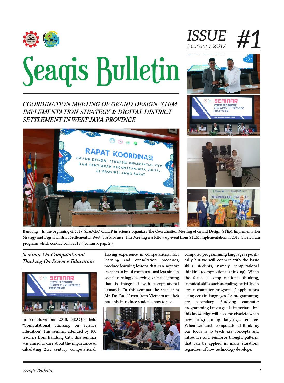 Bulletin #1