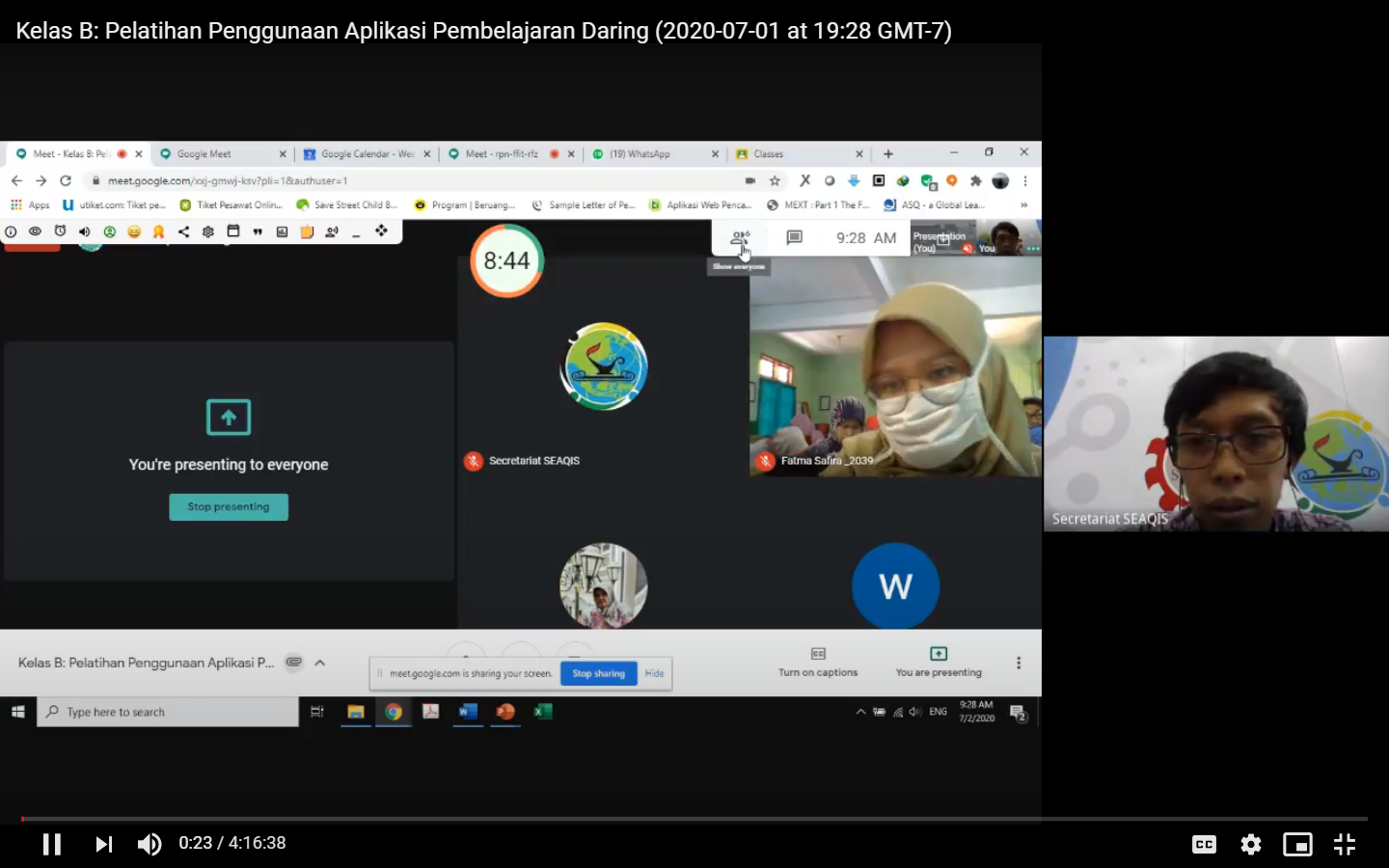 Online Training: The Use of Online Learning Application for Primary and Secondary Teachers in Al-Muqorrobin Foundation Depok