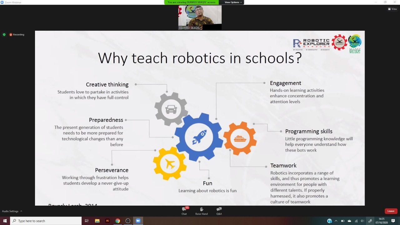 Webinar on Integrating Robotics into Science Learning