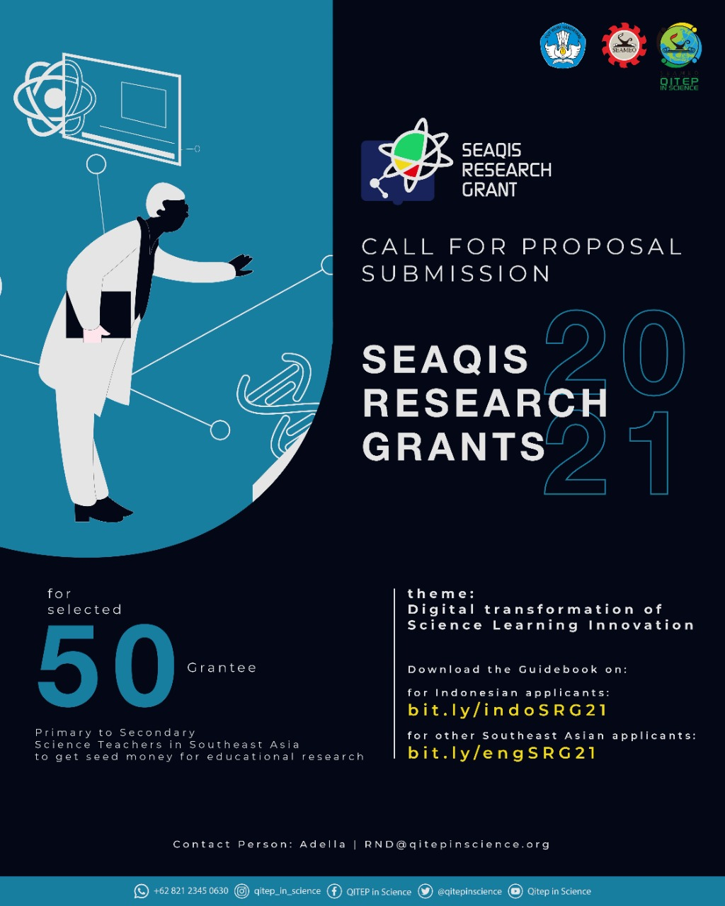 SEAQIS RESEARCH GRANT 2021 CALL FOR PROPOSAL SUBMISSION