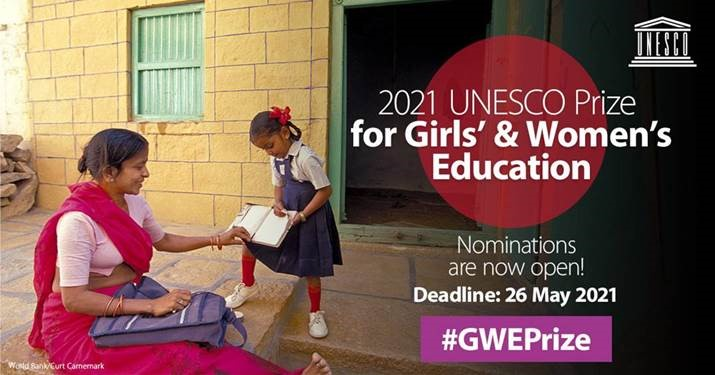 Nominations now open for the UNESCO Prize for Girls' and Women's Education