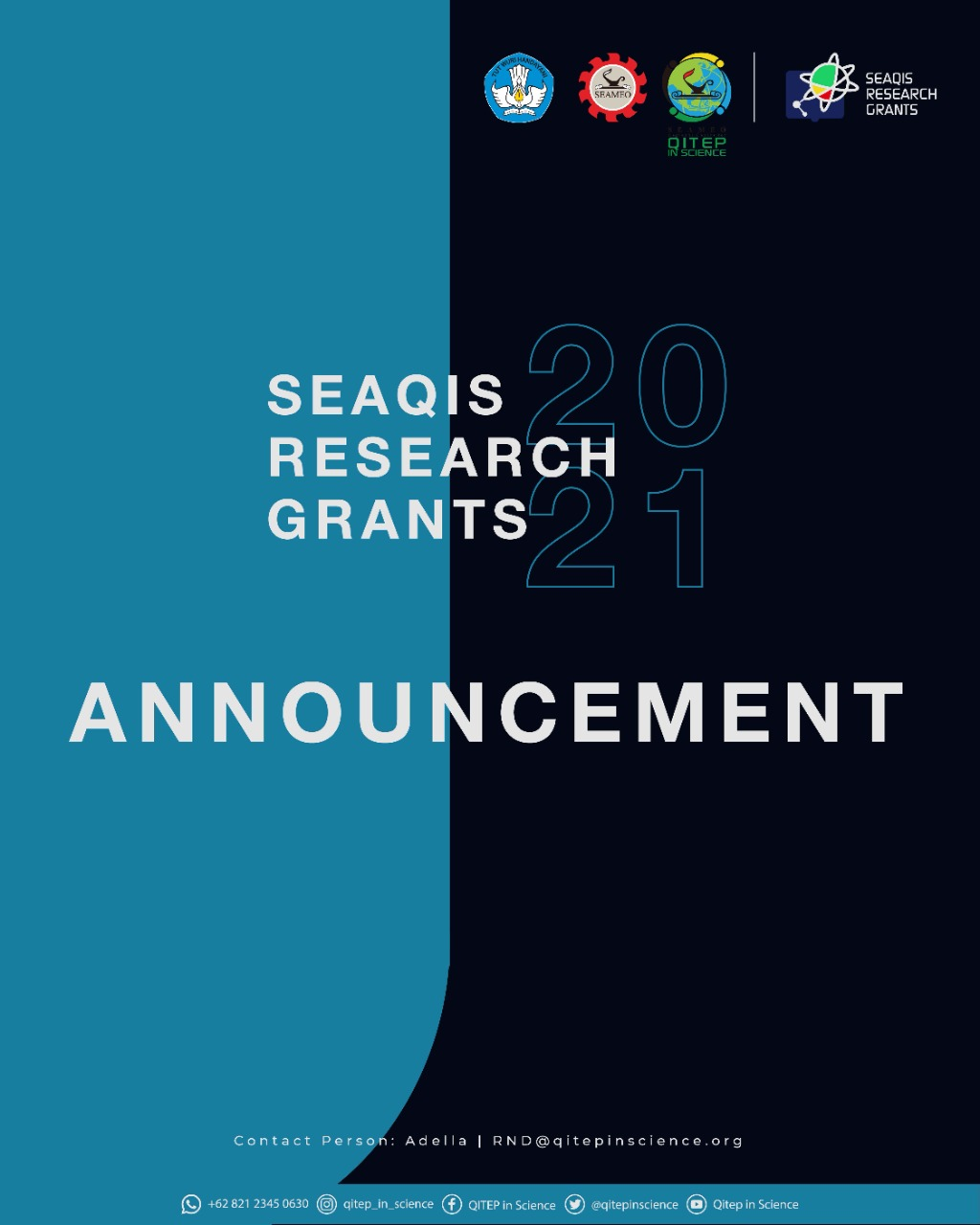 ANNOUNCEMENT SEAQIS RESEARCH GRANTS 2021