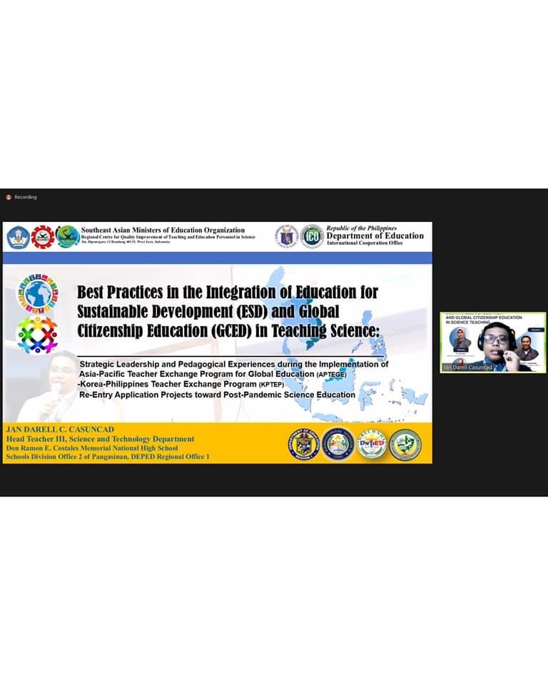 Webinar Series: Integration of Education for Sustainable Development and Global Citizenship Education in Science Teaching